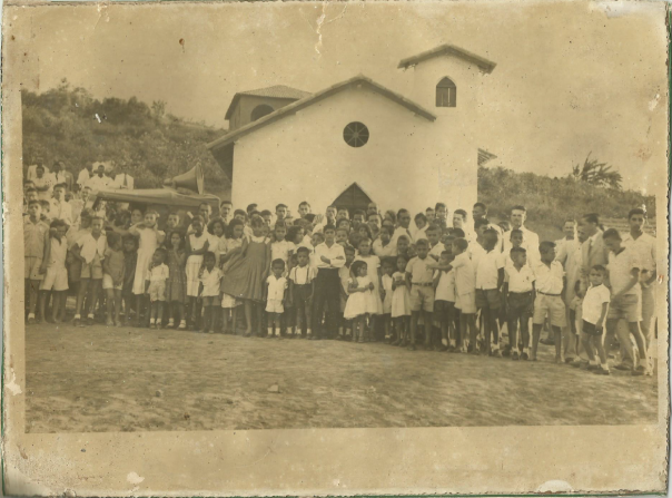 Inauguração do templo em 25/01/1958